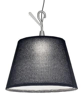 Luminaire - Lampes de table - Baladeuse Tolomeo Paralume LED Outdoor / à suspendre - Artemide - Gris - Aluminium, Tissu Thuia