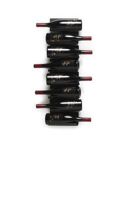 Tableware - Wine Accessories - Ptolomeo Vino Bottle holder - / Mural - H 75 cm by Opinion Ciatti - Black - Lacquered metal