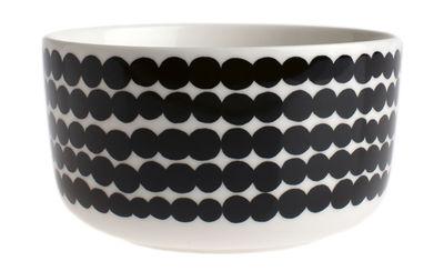 Tableware - Bowls - Siirtolapuutarha Bowl - Ø 12,5 cm by Marimekko - Ø 12,5 cm - Siirtolapuutarha - White & black - Enamelled china