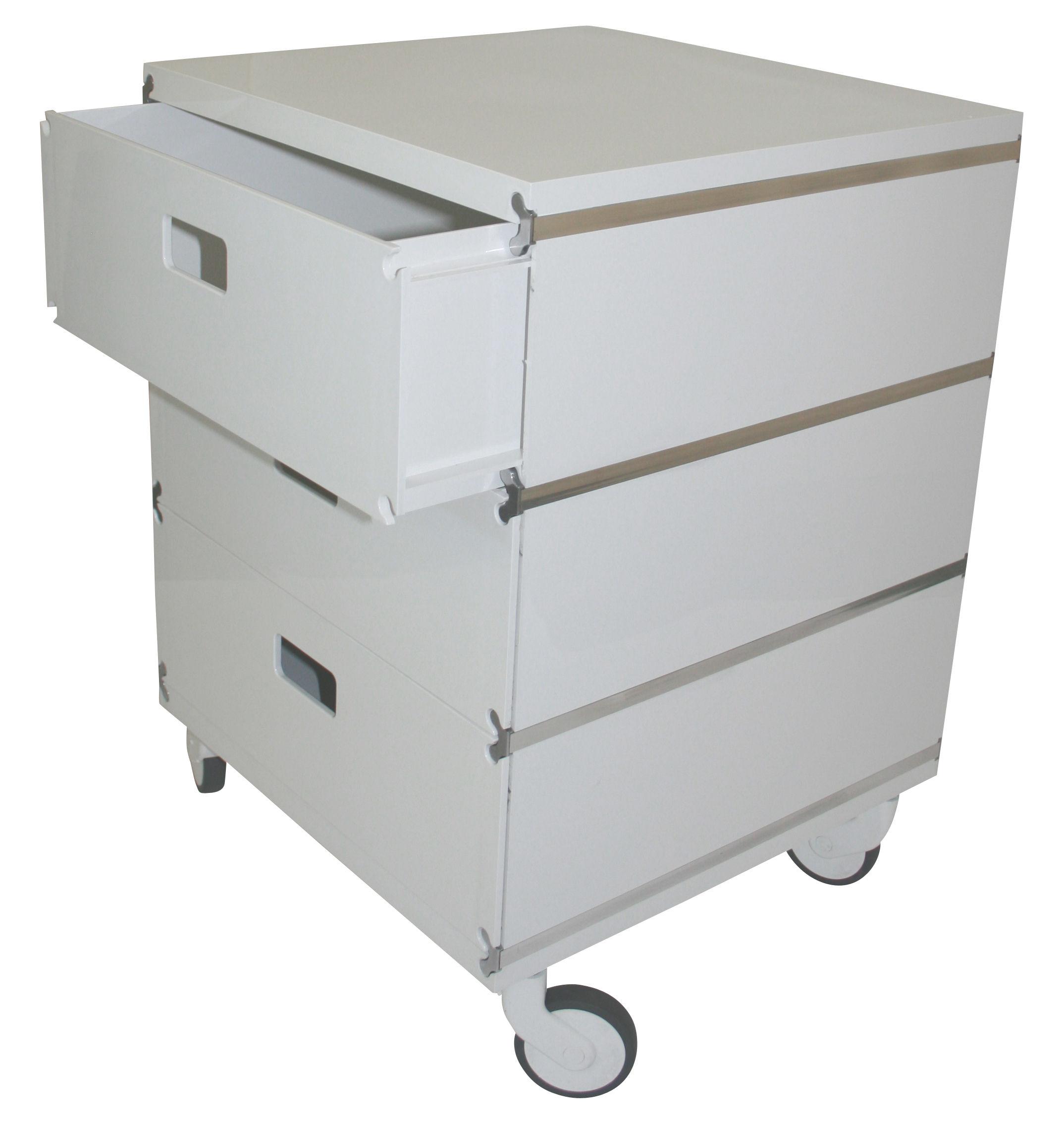 Arredamento - Mobili Ados  - Cassettiera con rotelle Plus Unit - 3 cassetti sovrapposti - Su rotelle di Magis - Su rotelle - Bianco - ABS