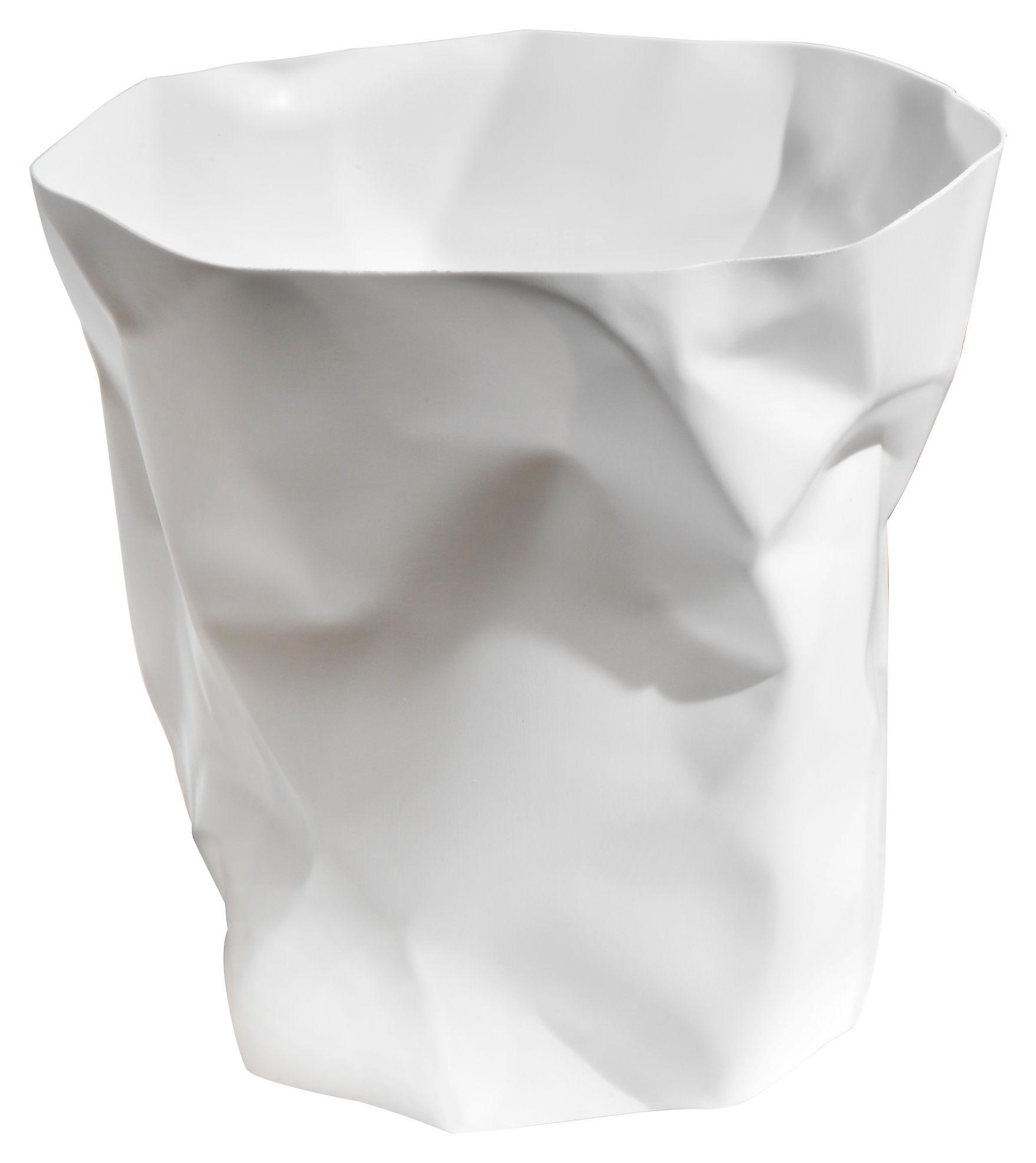 Déco - Accessoires bureau - Corbeille Bin Bin / H 31 cm - Essey - Blanc - Polyéthylène