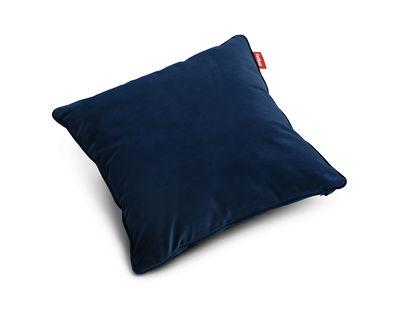 Coussin Square Velvet / Velours - 50 x 50 cm - Fatboy bleu foncé en tissu