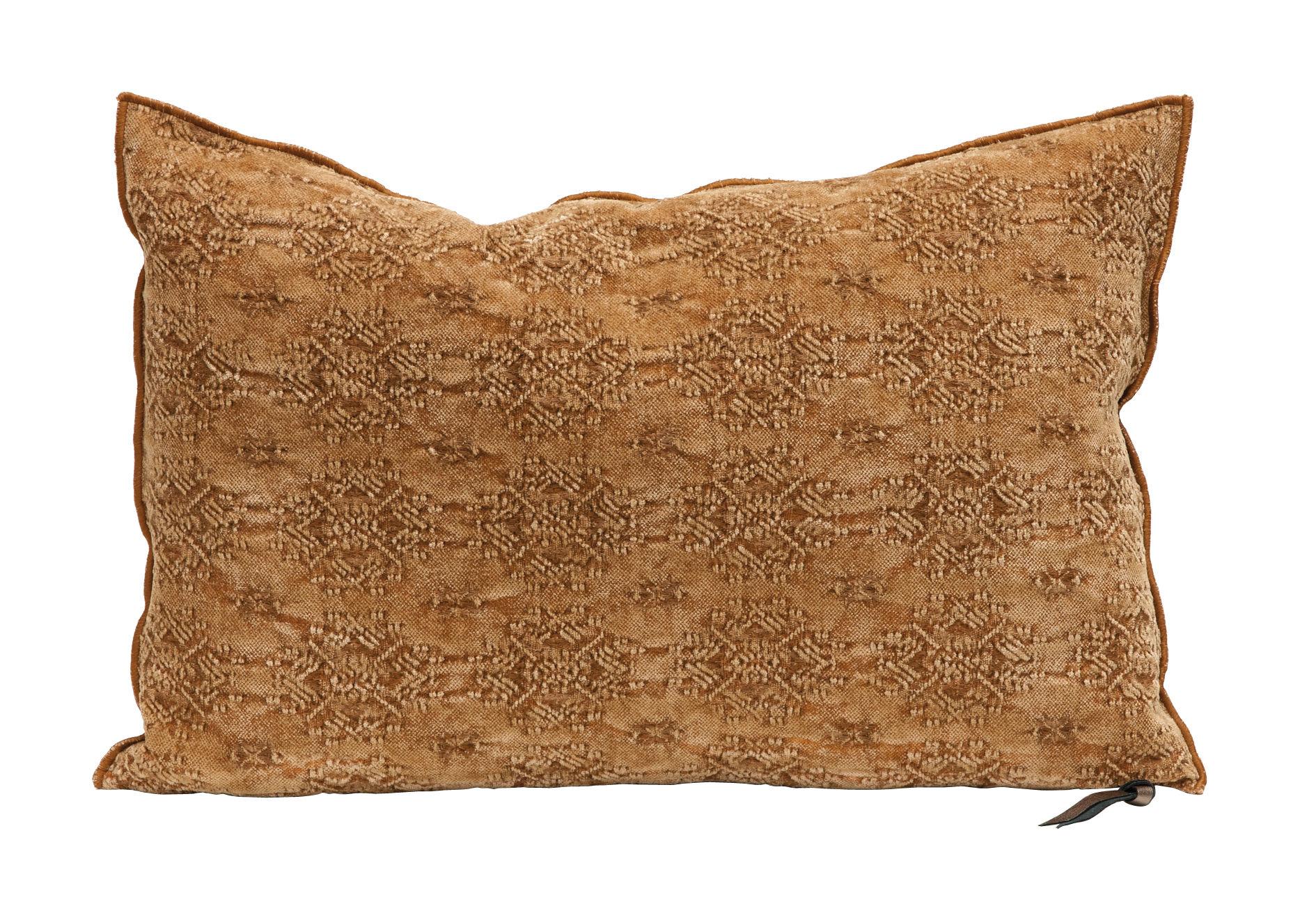 Déco - Coussins - Coussin Vice Versa / 40 x 60 cm - Jacquard - Maison de Vacances - Kilim Terracotta - Coton, Jacquard, Plumes de canard
