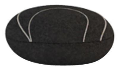 Coussin Yann Livingstones / Laine - 29x26 cm - Smarin noir en tissu