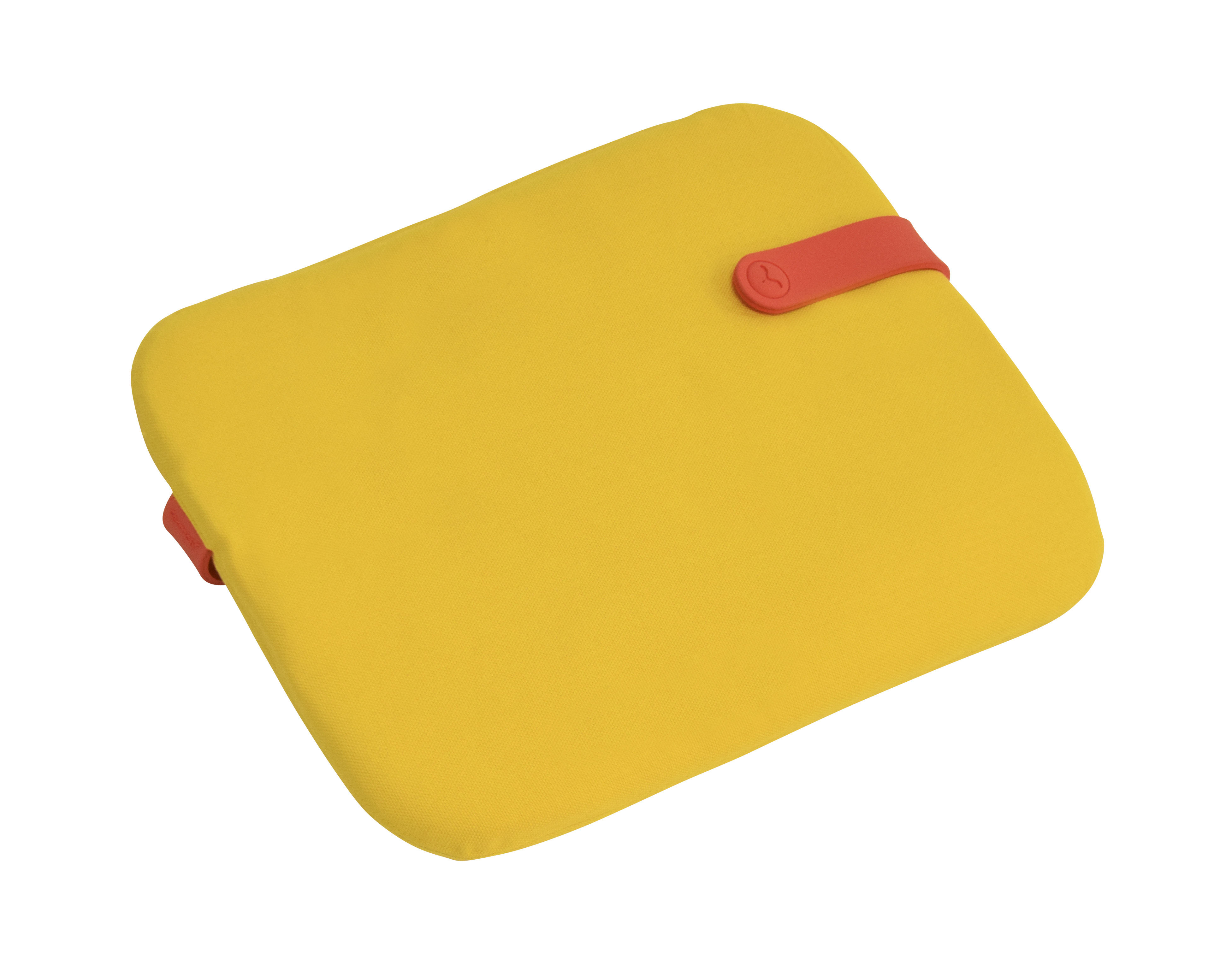 Decoration - Cushions & Poufs - Color Mix Cushion - For Bistro chair - 38 x 30 cm by Fermob - Toucan yellow / Capucin stripe - Acrylic fabric, Foam, PVC