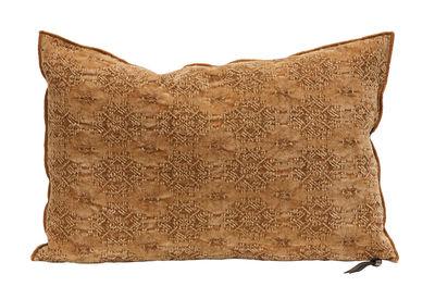 Decoration - Cushions & Poufs - Vice Versa Cushion - 40 x 60 cm - Jacquard by Maison de Vacances - Terracotta Kilim - Cotton, Duck feathers, Fair Isle