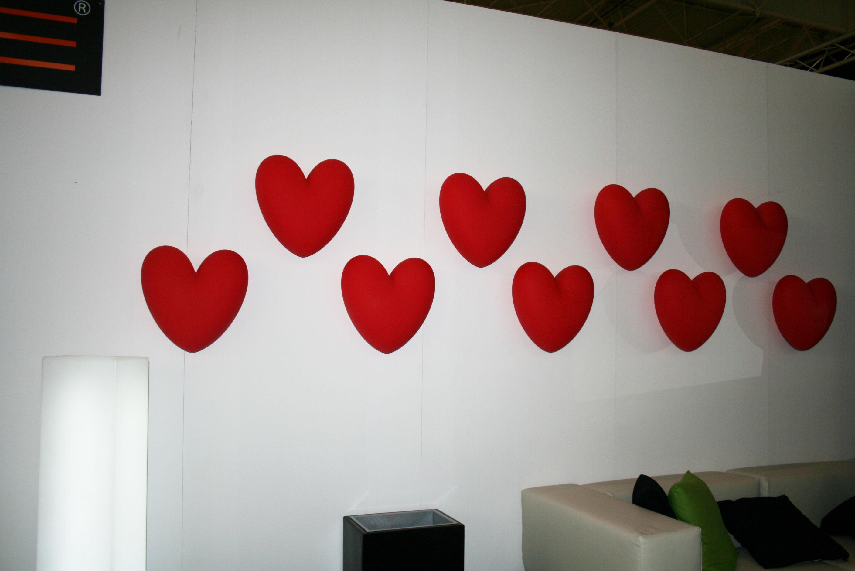 Love dekoration wanddeko rot by slide made in design - Dekoration rot ...