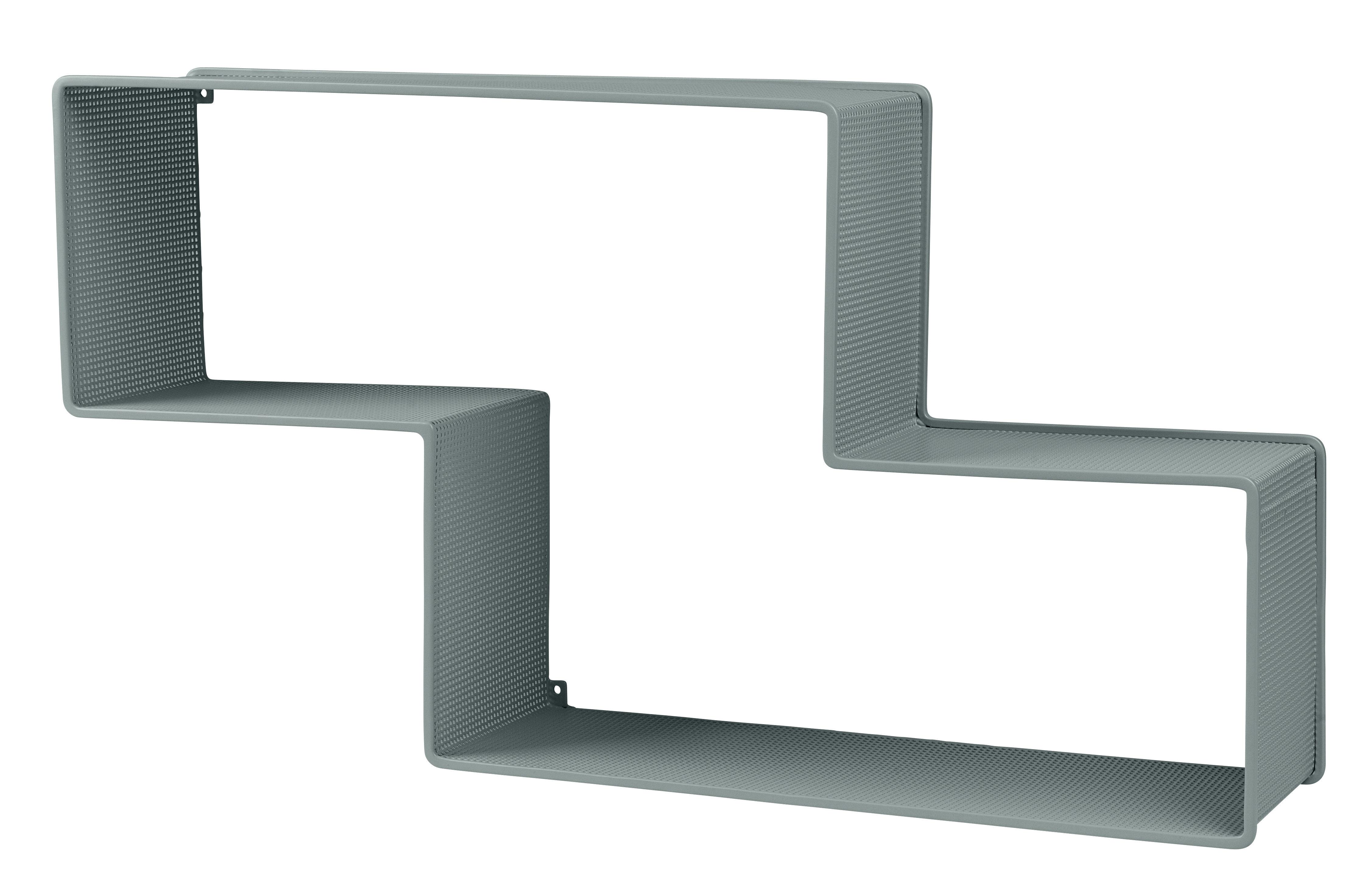 Mobilier - Etagères & bibliothèques - Etagère Dédal / Matégot - L 90 cm - Réédition 50' - Gubi - Gris Pluvieux - Tôle d'acier