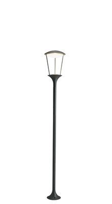 Lighting - Outdoor Lighting - Pharos LED Floor lamp - / H 140 cm by Ethimo - H 140 cm / Charcoal grey - Lacquered aluminium