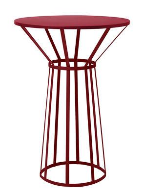 Guéridon Hollo / Ø 50 x H 73 cm - Petite Friture bordeaux en métal