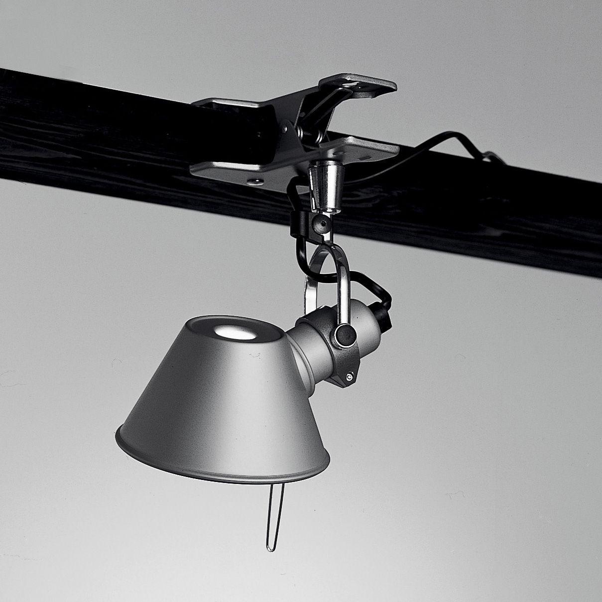 Illuminazione - Lampade da parete - Lampada a pinza Tolomeo Micro Pinza LED - LED di Artemide - H 20 cm - Alluminio - Acciaio, Alluminio
