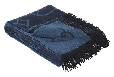 Decoration - Bedding & Bath Towels - Jaime Hayón Plaid - / 200 x 130 cm - Merino wool & Alpaca by Fritz Hansen - Blue - Alpaca, Cotton, Merinos wool
