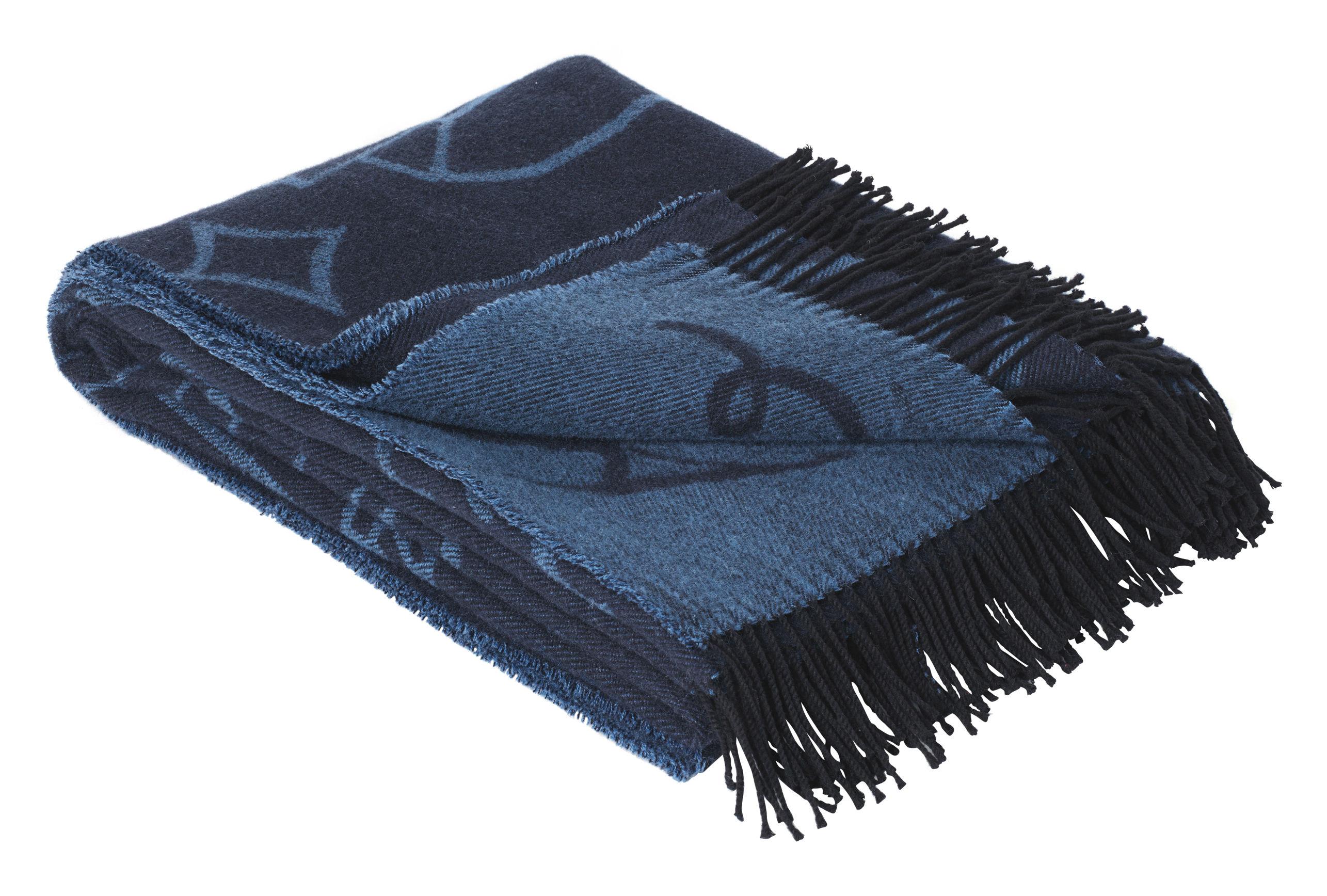 Decoration - Bedding & Bath Towels - Jaime Hayón Plaid - / 200 x 130 cm - Merino wool & Alpaca by Fritz Hansen - Blue - Alpaga, Cotton, Merinos wool
