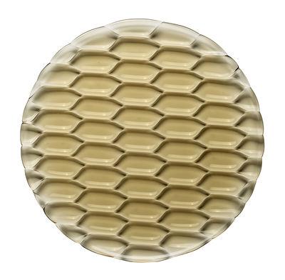 Plat de service Jellies Family / Ø 33 cm - Kartell vert en matière plastique