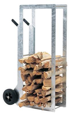 Arredamento - Complementi d'arredo - Portalegna WoodStock di Extremis - Acciaio - Acciaio galvanizzato