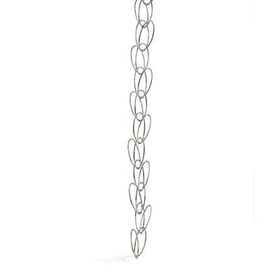 Portemanteau Senzatempo / Fixation plafond - 11 anneaux / L 270 cm - Opinion Ciatti argent/métal en métal