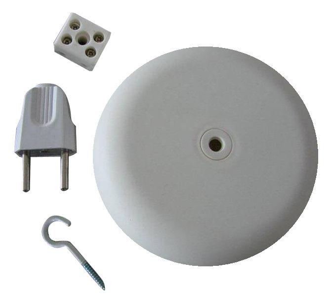 Luminaire - Ampoules et accessoires - Rosace Kit de fixation pour suspensions Unfold et E27 - Muuto - Blanc - Polyéthylène