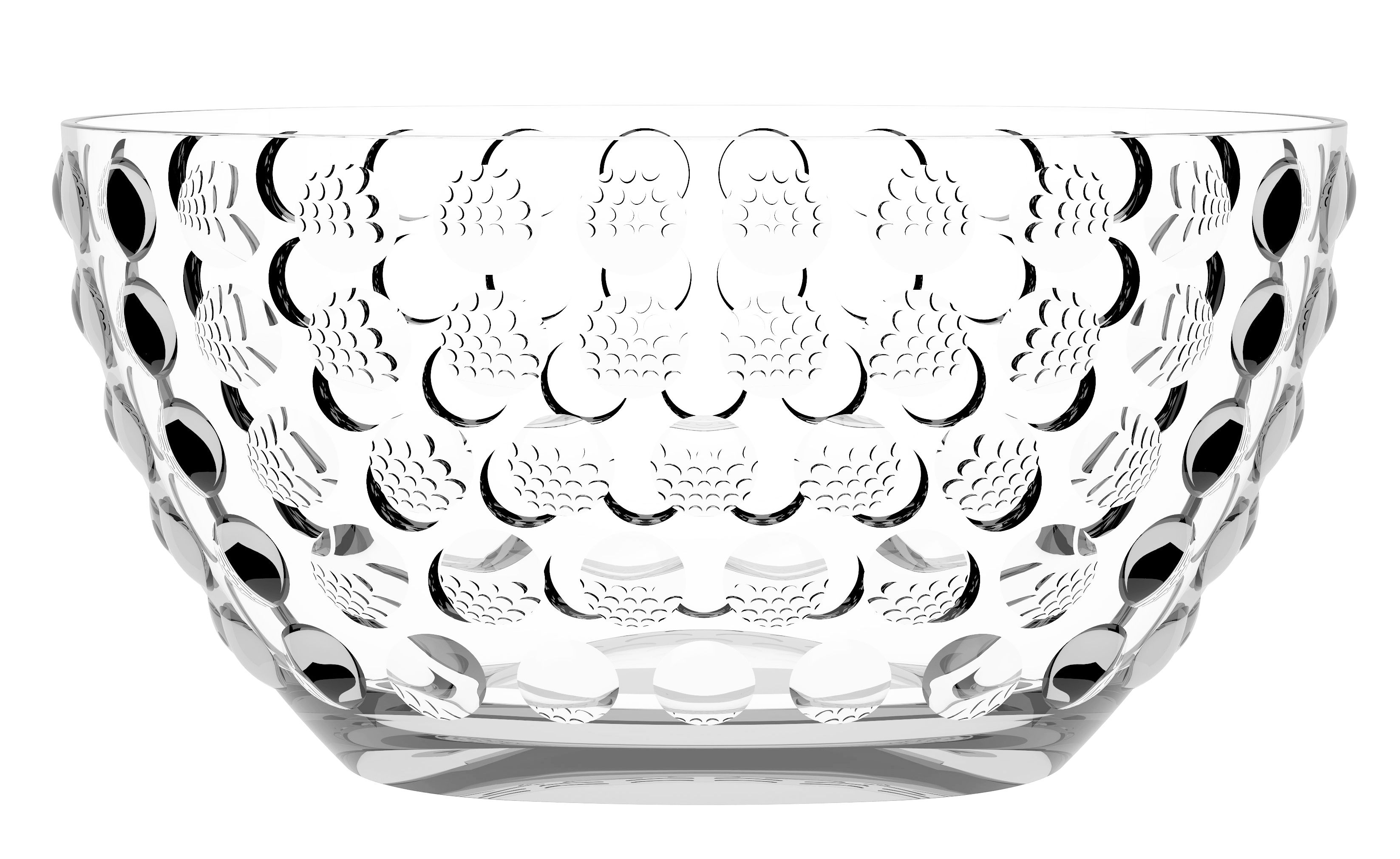 Arts de la table - Bar, vin, apéritif - Seau à champagne Bolle Bowl / Ø 46 cm - 6 bouteilles - Italesse - Transparent - Verre acrylique
