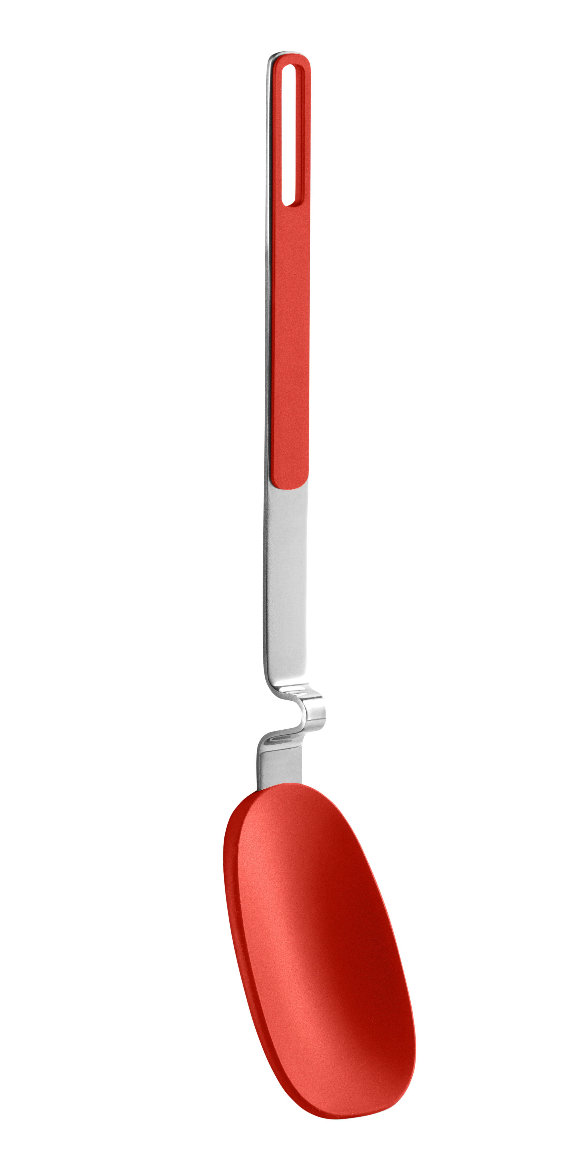 Kitchenware - Kitchen Equipment - Gravity Service spoon by Eva Solo - Flame - Silicone, Stainless steel