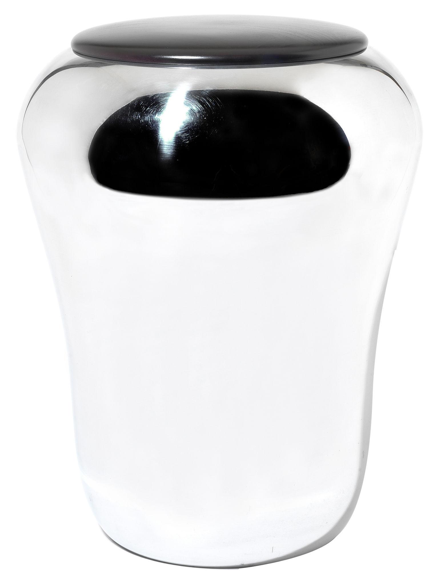 Arredamento - Sgabelli - Sgabello Babà di Alessi - Acciaio - Acciaio inossidabile lucido, Legno