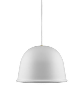 Illuminazione - Lampadari - Sospensione Local Lamp - / Ø 28 cm di Normann Copenhagen - Bianco - Acciaio