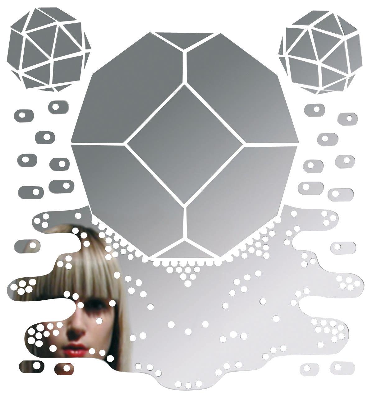 Arredamento - Specchi - Specchio autocollante Meltingpolyhedron - Autoadesivo di Domestic -  - Materiale plastico