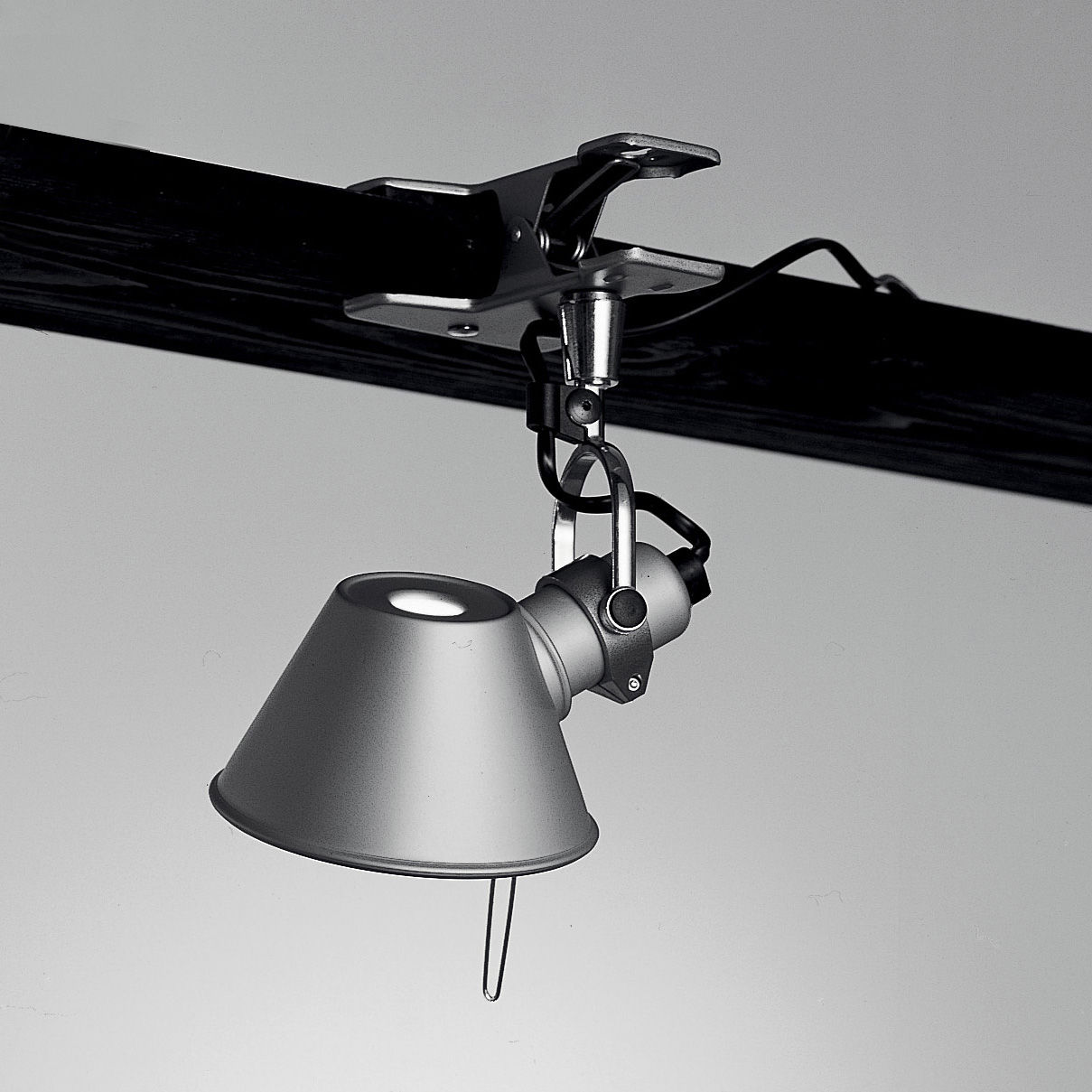 Luminaire - Appliques - Spot à pince Tolomeo Micro Pinza LED - Artemide - H 20 cm - Aluminium - Acier, Aluminium