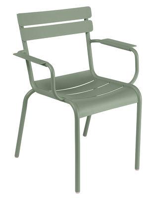 Möbel - Stühle  - Luxembourg Stapelbarer Sessel / Aluminium - Fermob - Kaktus - lackiertes Aluminium