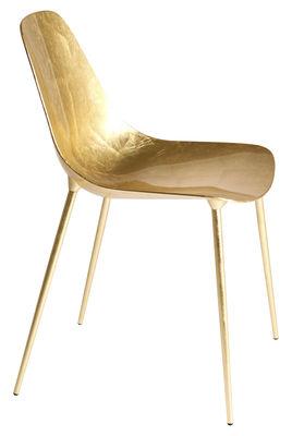 Möbel - Stühle  - Mammamia Stuhl / Metall mit Goldbeschichtung - Opinion Ciatti - Vergoldet - Feuilles d'or, Metall