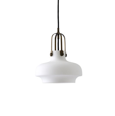 Luminaire - Suspensions - Suspension Copenhague SC6 / Ø 20 cm - Verre - &tradition - Verre / Blanc opale - Métal, Verre opalin