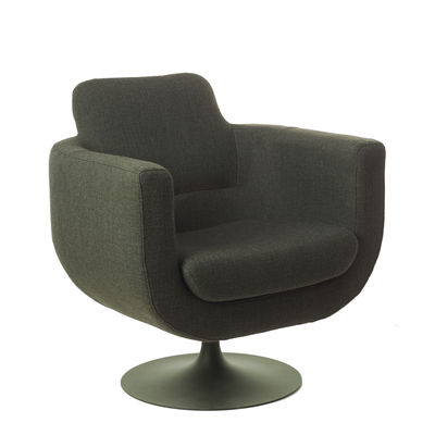 Furniture - Armchairs - Kirk Swivel armchair - / Fabric & metal by Pols Potten - Dark green - Fabric, Foam, Metal