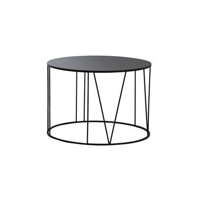 Mobilier - Tables basses - Table basse Roma Small / Ø 70 cm - Acier - Zeus - Noir cuivré sablé - Acier