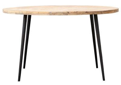 Table Club / Ø 130 cm - Bois de manguier - House Doctor noir,bois en bois