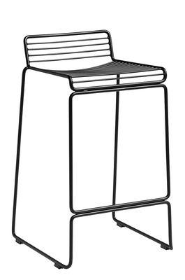 Mobilier - Tabourets de bar - Tabouret de bar Hee / H 65 cm - Hay - Noir - Acier laqué