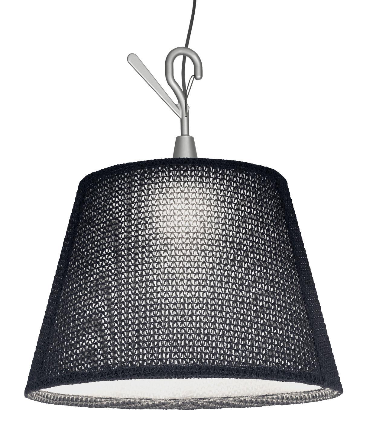 Leuchten - Tischleuchten - Tolomeo Paralume LED Outdoor Taschenlampe outdoorgeeignet / Handlampe zum Aufhängen - LED - Artemide - Grau - Aluminium, Thuia-Stoff