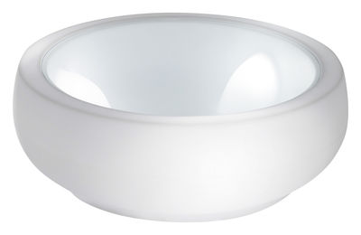 Arredamento - Tavolini  - Tavolino Chubby di Slide - Bianco - Polietilene riciclabile, Vetro