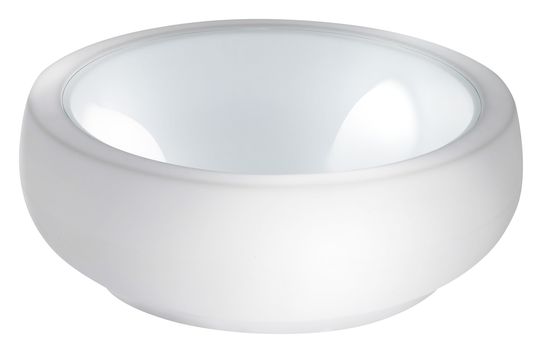Arredamento - Tavolini  - Tavolino Chubby di Slide - Bianco - Polyéthylène recyclable, Vetro
