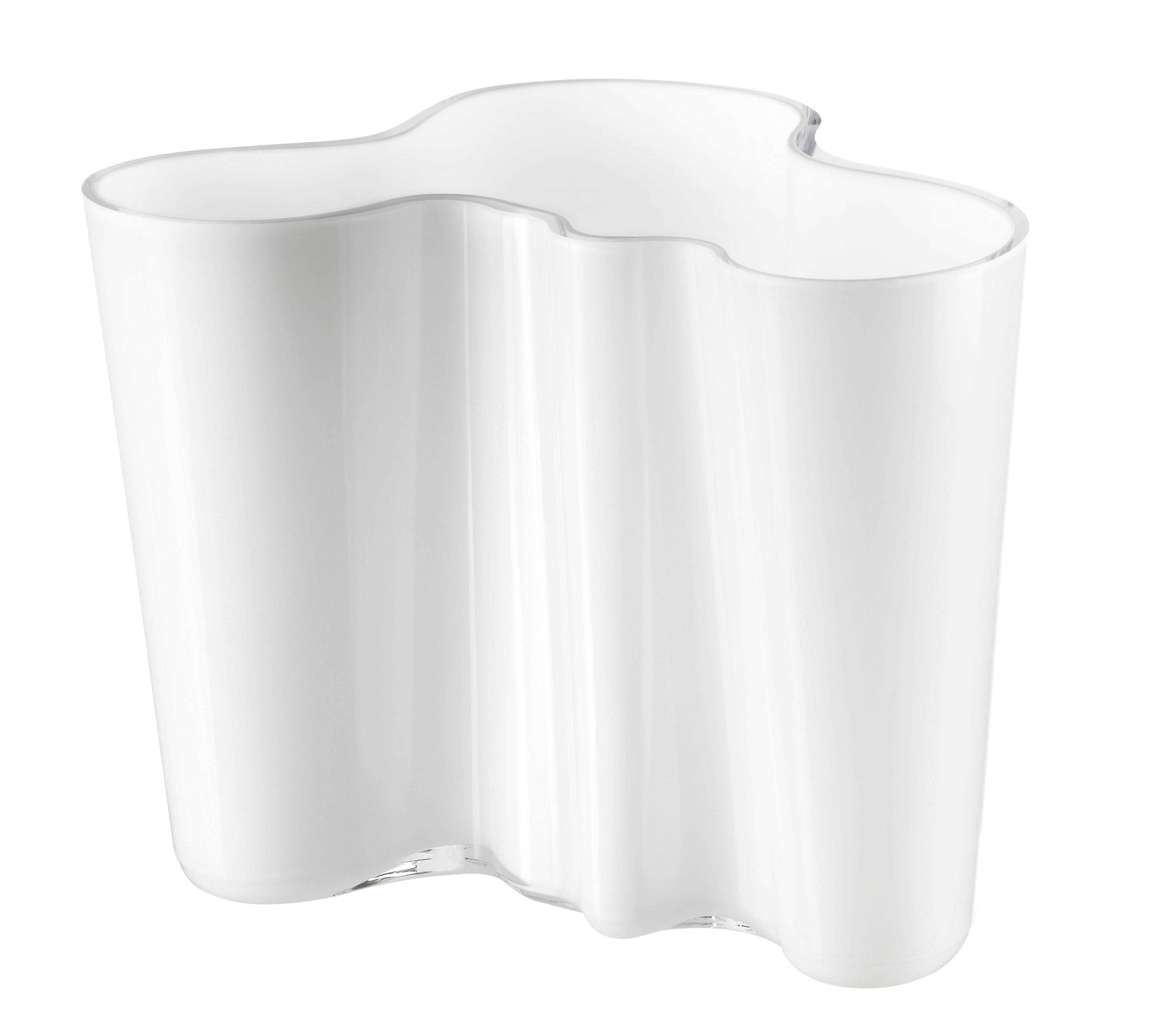 Déco - Vases - Vase Aalto / H 16 cm - Iittala - Opaline - Verre