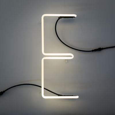 Lighting - Wall Lights - Néon Alphafont Wall light with plug - Letter E by Seletti - E - Glass