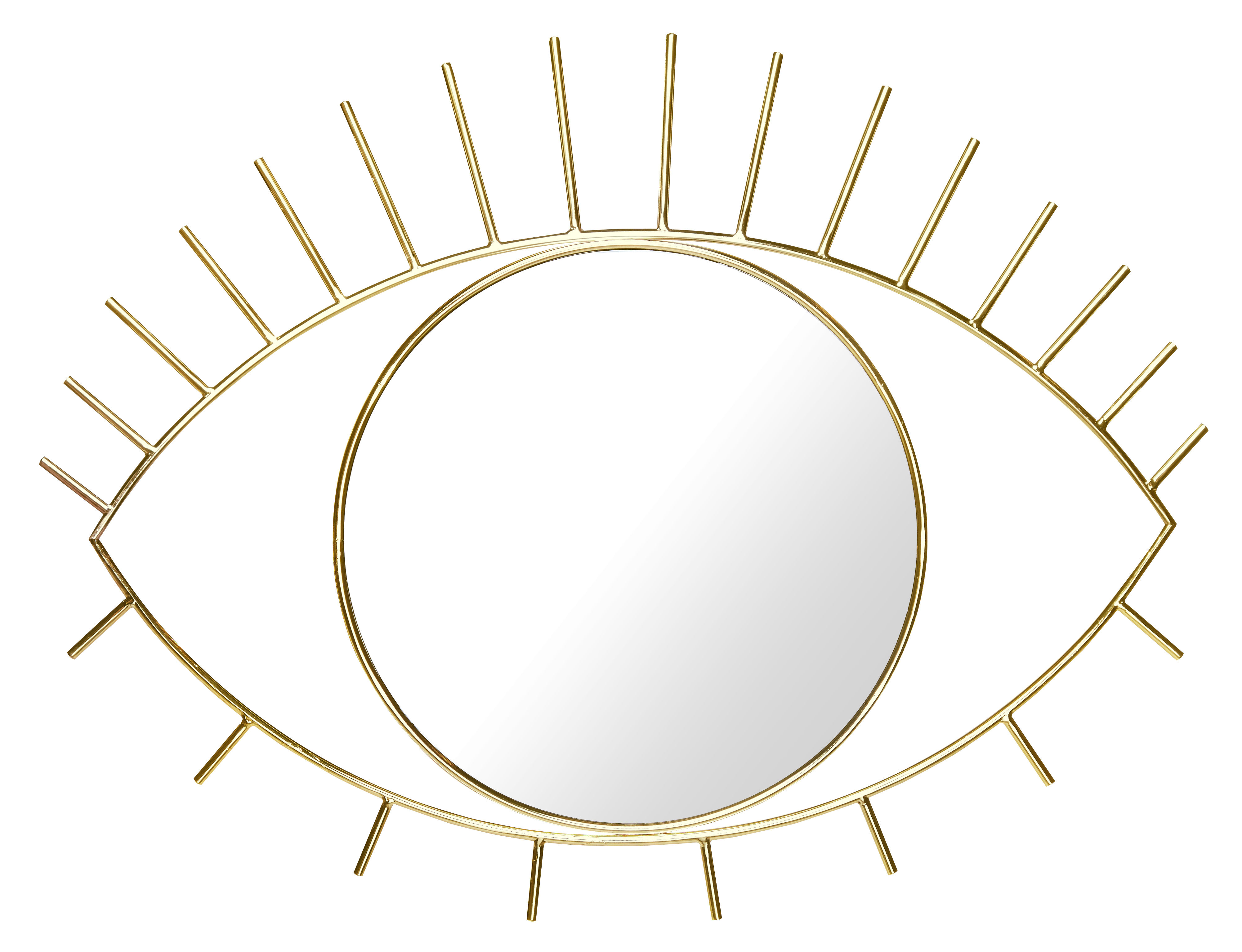 Decoration - Mirrors - Cyclops Large Wall mirror - / L 53 x H 41 cm by Doiy - Large / Gold - Glass, Metal
