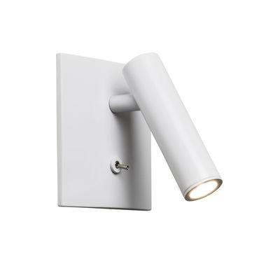 Applique Enna Square LED / Liseuse orientable - Interrupteur - Astro Lighting blanc mat en métal