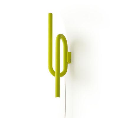 Applique Tobia LED / Métal - H 40 cm - Foscarini jaune en métal