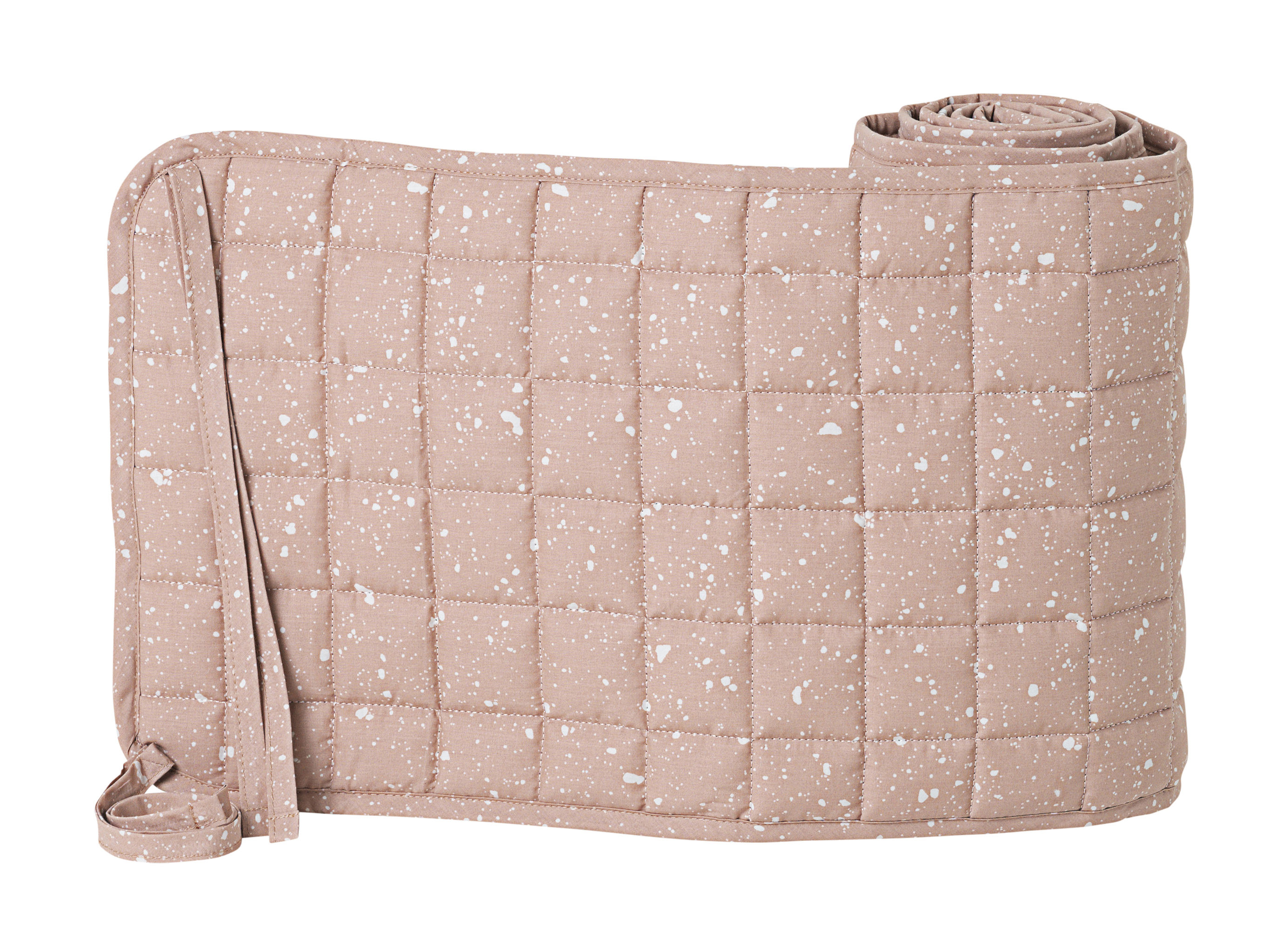 Decoration - Children's Home Accessories - Hush Bed bumper - / L 180 cm by Ferm Living - Pink / White patterns - Organic cotton, Polyester