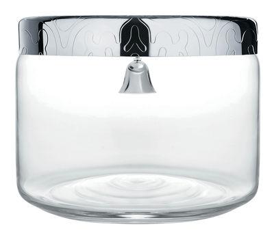 Kitchenware - Kitchen Storage Jars - Dressed Biscuit tin - Ø  19 x H 15 cm by Alessi - Transparent / Steel - Glass, Stainless steel