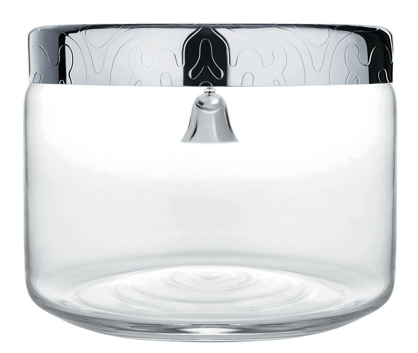 Cuisine - Boîtes, pots et bocaux - Boîte à biscuits Dressed / Ø  19 x H 15 cm - Alessi - Transparent / Acier - Acier inoxydable, Verre