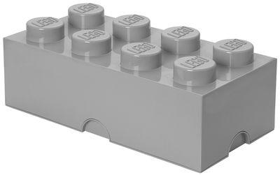 Déco - Pour les enfants - Boîte Lego® Brick / 8 plots - Empilable - ROOM COPENHAGEN - Gris - Polypropylène