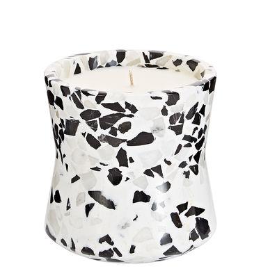 Bougie parfumée Terrazzo Large / H 12 cm - Tom Dixon blanc,gris,noir en pierre