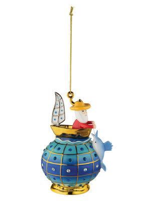 Boule de Noël Fleurs de Jorì / Vecchio e il Mare - Porcelaine peinte main - Alessi multicolore en céramique