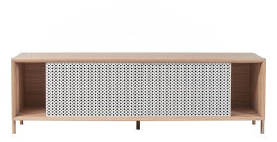 Buffet Gabin / Meuble TV - L 162 - Chêne & métal - Hartô gris/bois naturel en métal/bois