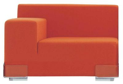 Canapé modulable Plastics / Module accoudoir droite - L 90 cm - Kartell orange en matière plastique
